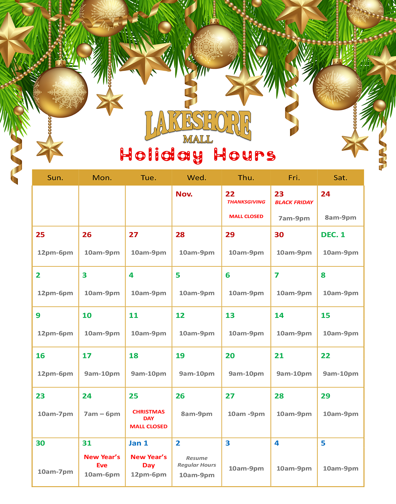 holiday hours 2018 signs
